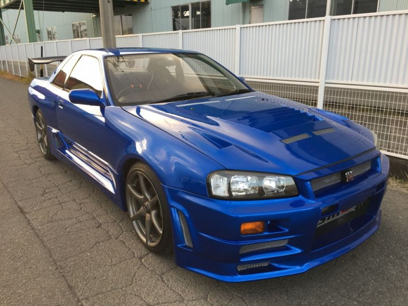 nissan skyline gt r r32 bayside blue z tuned r34 kit. Black Bedroom Furniture Sets. Home Design Ideas