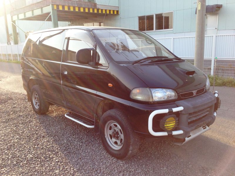 mitsubishi delica space gear jasper aero roof 1995 used for sale. Black Bedroom Furniture Sets. Home Design Ideas