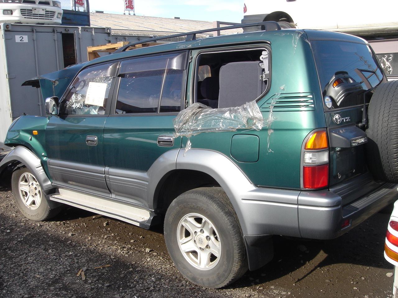 Toyota Land Cruiser Prado Tz 1996 Damaged For Sale