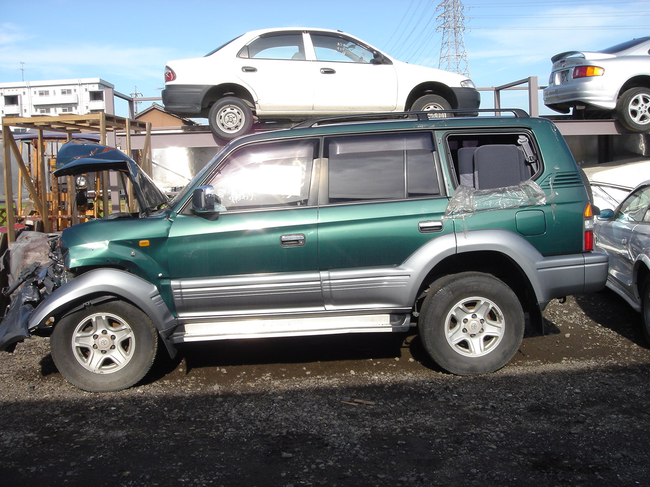 toyota land cruiser prado tz 1996 damaged for sale. Black Bedroom Furniture Sets. Home Design Ideas