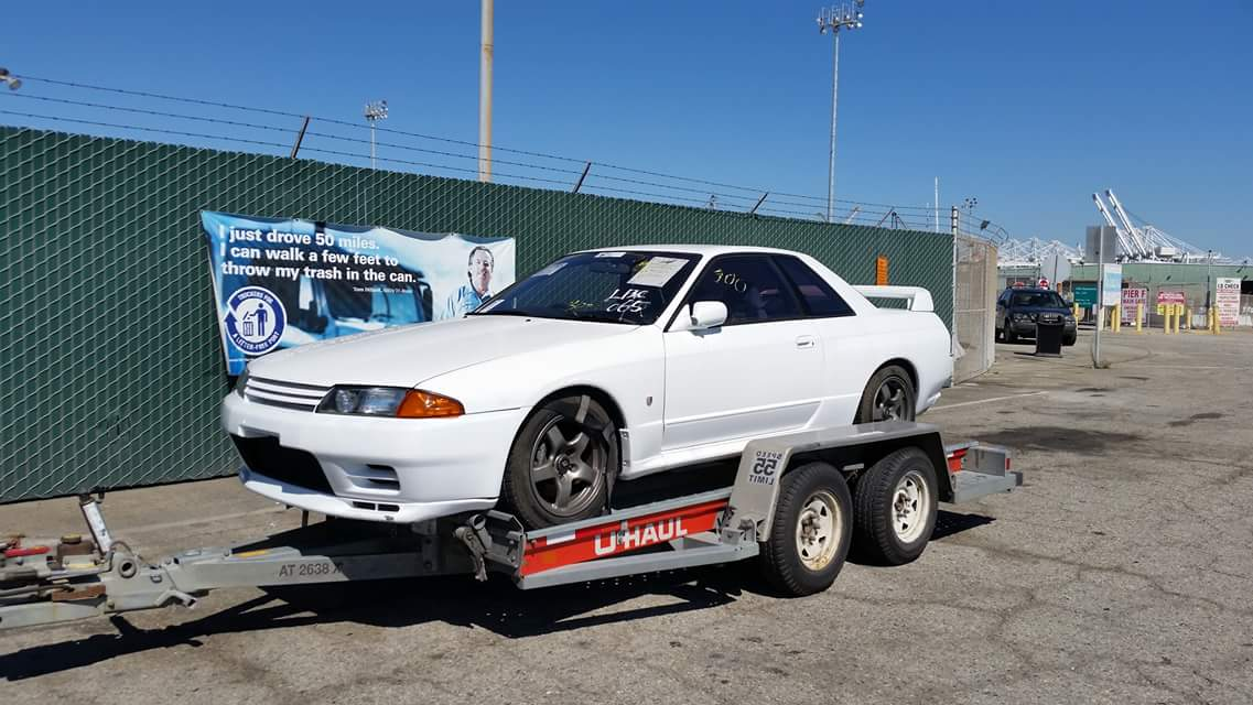 Nissan Skyline GT-R in the USA port