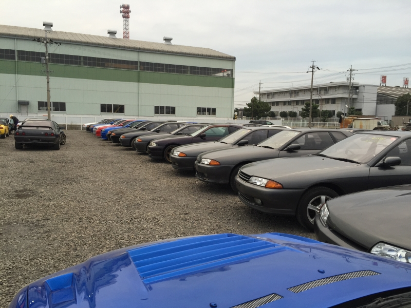 Nissan Skylines yard in Japan