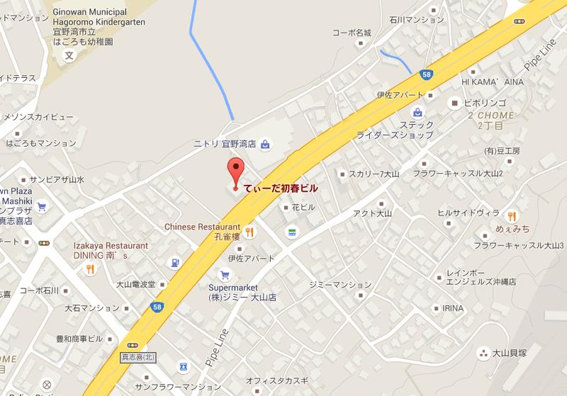 Okinawa Branch map