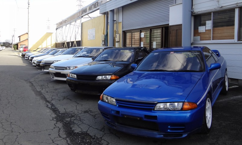 Nissan Skyline R32 in front of our office